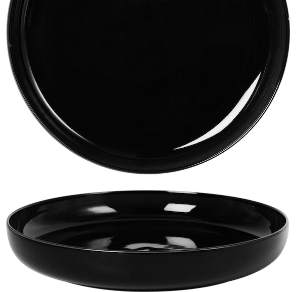 Deep Coupe Plate Glassy Black