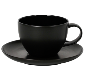 Cup and Saucer Set 100 cc Glassy Black