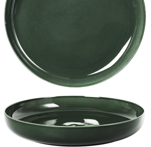 Deep Coupe Plate Glassy Green