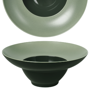 Bowl Wide Rim Glassy Green