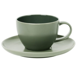 Cup and Saucer Set 100 cc Glassy Green