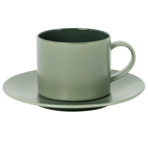 Cup and Saucer Set A 100 cc Glassy Green