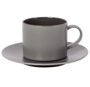 Cup and Saucer Set A 100 cc Glassy Taupe
