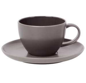 Cup and Saucer Set 350 cc Glassy Taupe