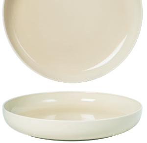 Deep Coupe Plate Pearl Beige