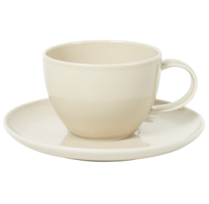 Cup and Saucer Set 100 cc Pearl Beige