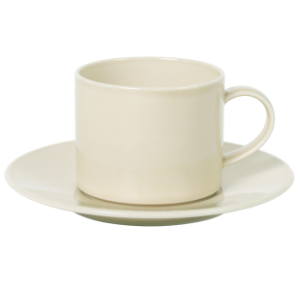 Cup and Saucer Set A 100 cc Pearl Beige