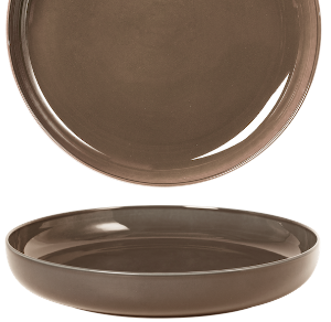 Deep Coupe Plate Pearl Brown