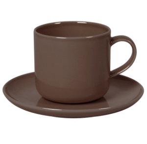 Cup and Saucer Set B 100 cc Pearl Brown
