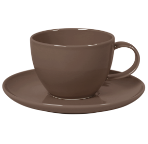 Cup and Saucer Set 350 cc Pearl Brown