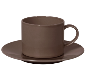 Cup and Saucer Set A 350 cc Pearl Brown