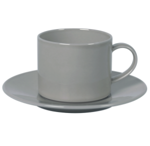 Cup and Saucer Set A 100 cc Pearl Grey