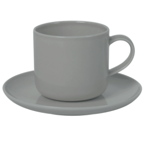 Cup and Saucer Set B 100 cc Pearl Grey