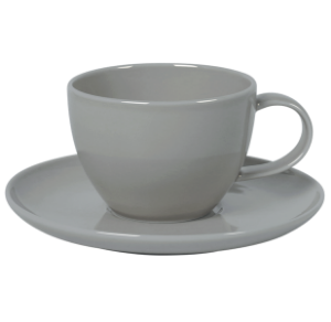Cup and Saucer Set 350 cc Pearl Grey