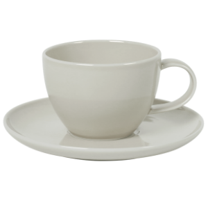 Cup and Saucer Set 100 cc Pearl Light Grey