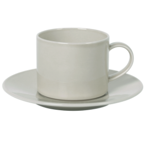 Cup and Saucer Set A 100 cc Pearl Light Grey