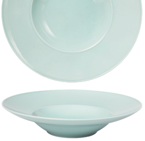 Deep Plate Wide Rim Pearl Mint