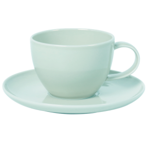 Cup and Saucer Set 100 cc Pearl Mint