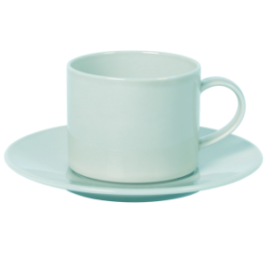 Cup and Saucer Set A 100 cc Pearl Mint