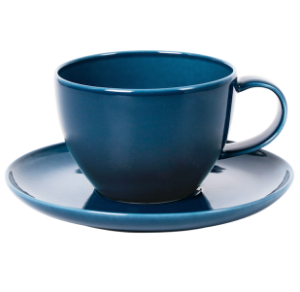 Cup and Saucer Set 100 cc Pearl Navy