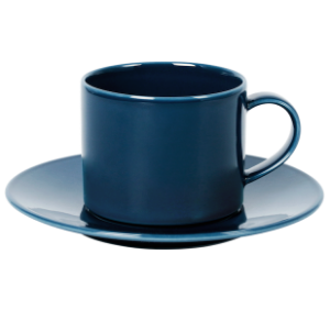 Cup and Saucer Set A 100 cc Pearl Navy