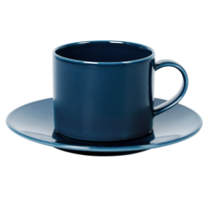 Cup and Saucer Set A 350 cc Pearl Navy