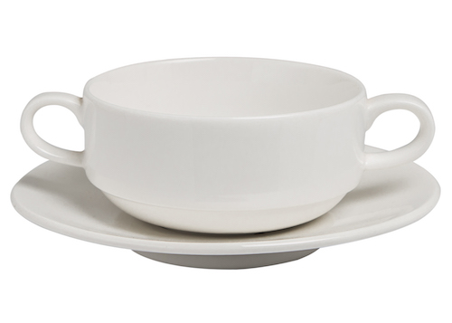 Soup Cup Stackable 280cc and Saucer 15.5cm  Set-71537A-91302A