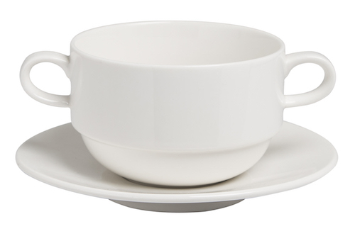 Soup Cup Stackable 350cc and Saucer 15.5cm Set  -71538A-91302A