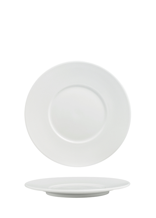Flat Plate 23cm With Wide 5.2cm Rim-72033A