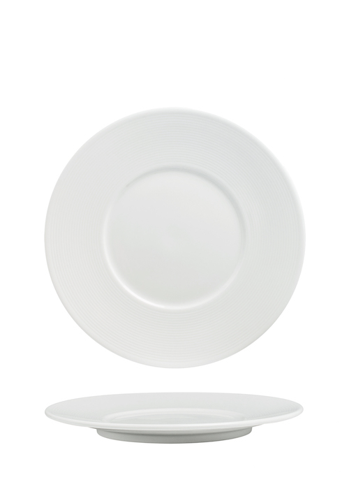 Flat Plate 25cm With Wide 5.6cm Rim-72043A